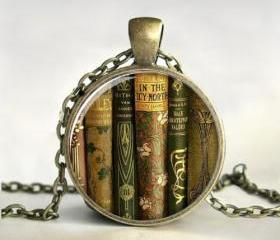 Library Book Necklac..