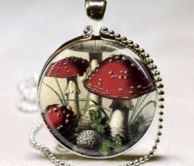 Mushroom Necklace Re..
