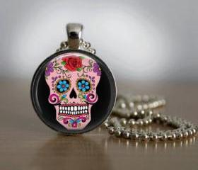 Sugar Skull Necklace..