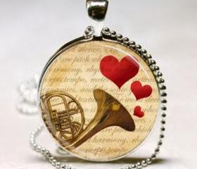 French Horn Necklace..
