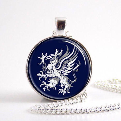 Dragon age gray wardens Necklace, Symbol, logo, crest Jewelry,Glass Round