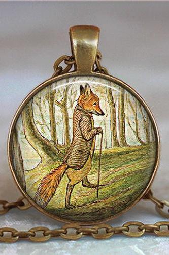 The Tale of Mr. Tod fox pendant, fox jewelry, fox necklace, fox jewellery