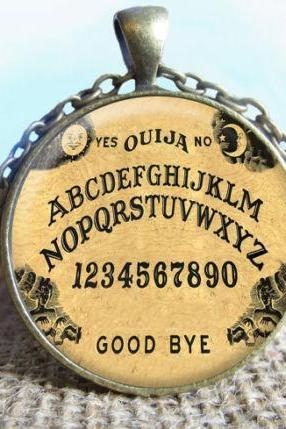 Ouija Board Pendant Necklace Jewelry, Fine Art Necklace Jewelry