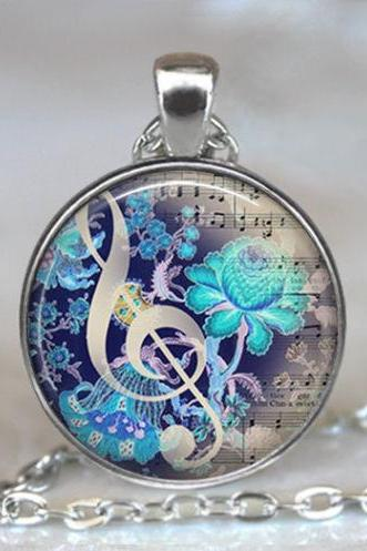 The Color of Music pendant, music necklace music jewelry music jewellery
