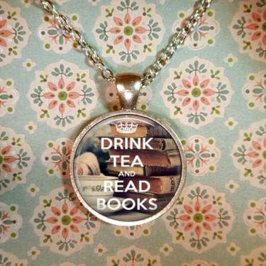 Book Necklace, Keep Calm, Literacy Necklace, Library, Librarian